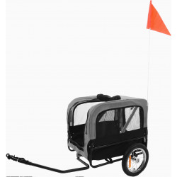 FL-518982 Flamingo DOGGY LINER ROMERO trailer negro y gris. 60 x 43 x 51 cm. para perros Transport