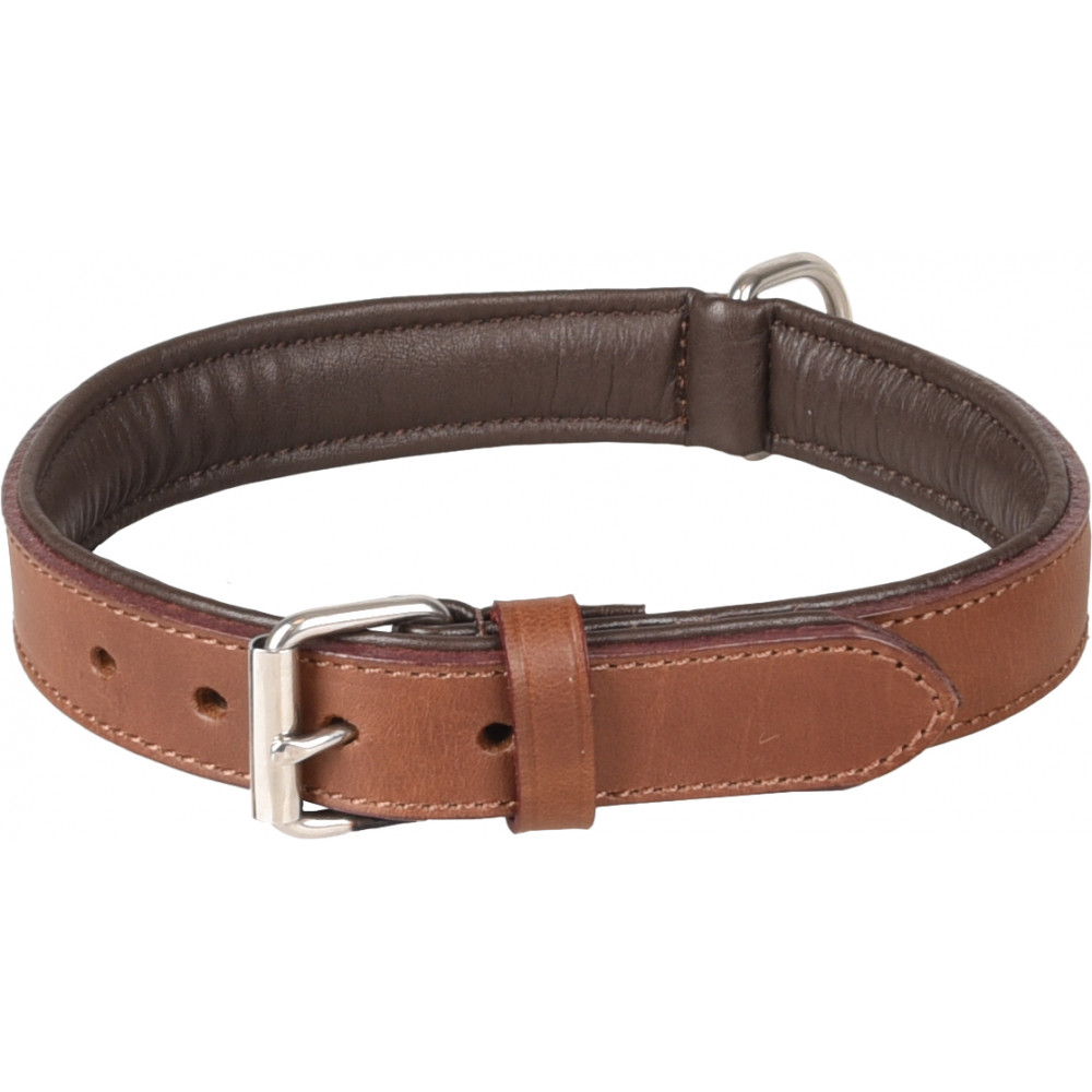 Flamingo Pet Products ARIZONA brown leather collar. size L 40-46 cm. for dog. Necklace