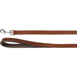 Flamingo FL-520066 ARIZONA brown leather dog leash. Size 130 cm x 20 mm. dog leash