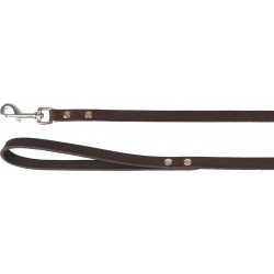 Flamingo FL-520445 RONDO Brown Riveted Leash .130 cm x 16 mm. for dogs dog leash
