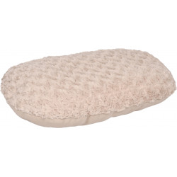 Flamingo Pet Products Beige CUDDLY cushion, oval, fleece. 50 x 35 x 8 cm. for dog. Coussin chien