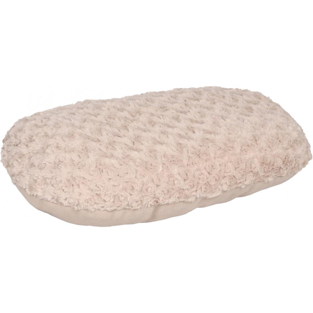 Flamingo FL-520324 Beige CUDDLY cushion, oval, fleece. 50 x 35 x 8 cm. for dog. Dodo