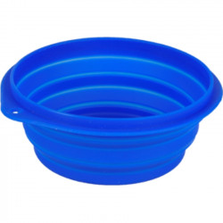 Flamingo Pet Products Ciotola da viaggio FALDA blu per cani. 1 litro. ø 18 cm FL-44039 Ciotola, ciotola da viaggio