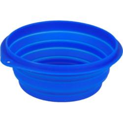FL-44039 Flamingo Pet Products Cuenco de viaje FALDA azul para perro. 1 litro. ø 18 cm Tazón, tazón de viaje