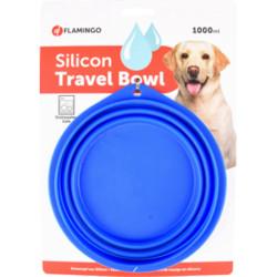 Flamingo FL-44039 FALDA travel bowl blue for dogs. 1000 ml. Bowl, travel bowl