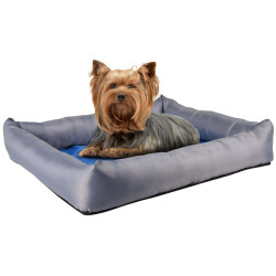 Flamingo FL-519543 Refreshing cushion FRESK. size S. 50 x 40 x 8.5 cm. blue/grey. for dog. Dodo