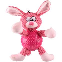 Flamingo Pet Products Dog toy. Pink BESS rabbit. length 28 cm approx. Jouets à mâcher