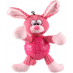 FL-519989 Flamingo Juguete para perros. Conejo BESS rosa. Longitud 28 cm aprox. Jeux