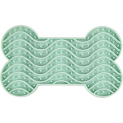 Flamingo FL-520212 Lick Mat YUMMEE in silicone and OS shape. green color size S 15 cm .for dog. Gamelle et fontaine