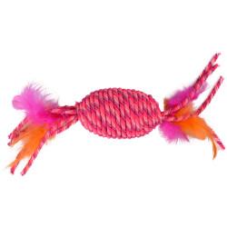 FL-560911 Flamingo rollo BIBI rosa de 29 cm. Juguete para gatos. Juegos