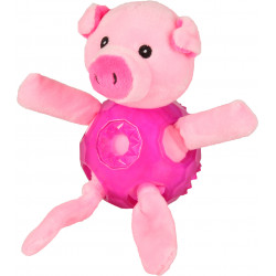 FL-518199 Flamingo Juguete para perros. Cerdo rosa. Longitud 18 cm aprox. Jeux