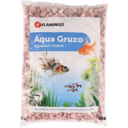 FL-400719 Flamingo Gravilla de Gruzo Rosa 900 gr. para el acuario. Decoración y otros