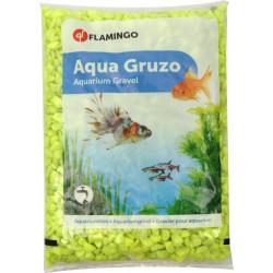 Flamingo Gravier Neon jaune 1 kg. pour aquarium. FL-400431 Décoration et autre