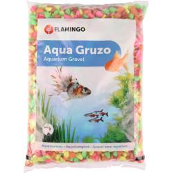 FL-400443 Flamingo Grava Neón arco iris mezcla 1 kg. para el acuario. Decoración y otros