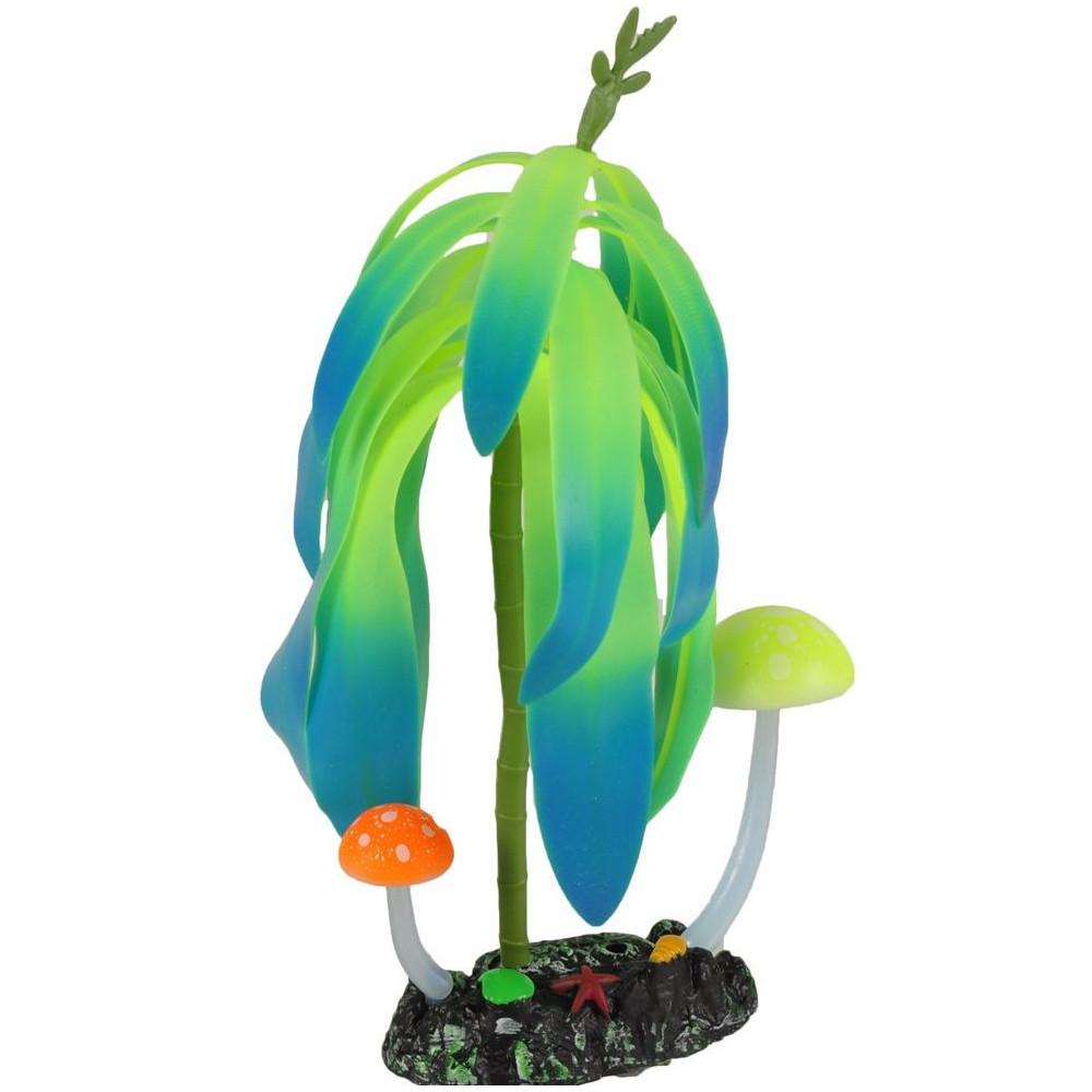 Flamingo FL-410104 1 Fluorescent ferns. aquarium decoration. ø7 cm x 11 cm. random colour. Decoration and other