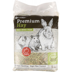 Flamingo Pet Products Premium meadow hay with apples. 1 kg or 30 litres. for rodents. Hay, litter, shavings