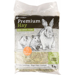 Flamingo Pet Products Premium meadow hay with carrot. 1 kg or 30 litres. for rodents. Hay, litter, shavings