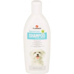 Flamingo Shampoing spécial pelage blanc . pour chien. flacon de 300 ml. FL-507035 Shampoing