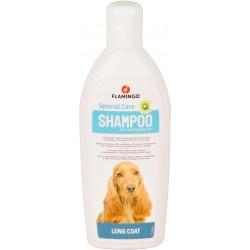Flamingo Shampoing spécial poil long . pour chien. flacon de 300 ml. FL-507048 Shampoing