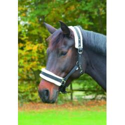 kerbl Halfter mit schwarzem abnehmbaren Fell für Pferde in voller Größe KE-328238 Pferde