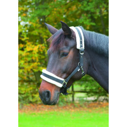 kerbl Halter with black removable fur. for horses. full size Horses