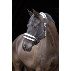 KE-328261 kerbl Cabestrillo con piel negra desmontable. para caballos. tamaño poni. Caballos