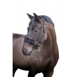 KE-328237 kerbl Cabestro con piel negra desmontable. para caballos. tamaño mazorca. Caballos