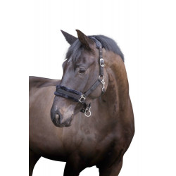 kerbl Halter with black removable fur. for horses. cob size. Horses