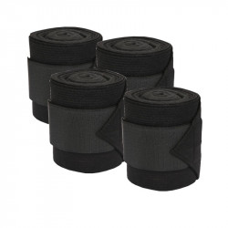 kerbl Fleece bandages with black stretch insert. for horses. (set of 4) horse care