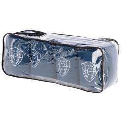 kerbl 4 Bandages polaire Exquisite. bleu 12.5 cm x 320 cm. pour chevaux. KE-3211627 soins chevaux