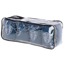 kerbl 4 Exquisite Fleece-Bandage. blau 12,5 cm x 320 cm. für Pferde. KE-3211627 pferdepflege