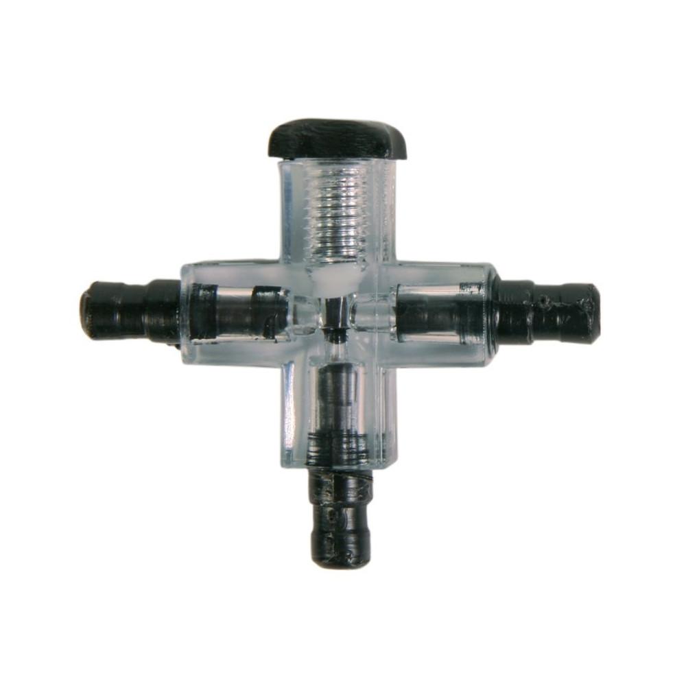 Connecteur croisé avec valve air - poisson Tuyauterie, valves, robinets Trixie TR-8040