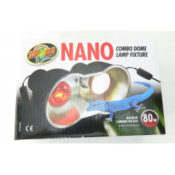 ZOOMED support de lampe double nano LF-36E combo dome 80 w max total pour terrarium ZO-387051 éclairage
