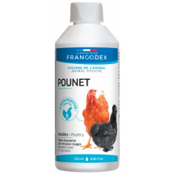 francodex FR-174210 Product against red lice, chickens. 250 ML bottle for poultry Low courtyard