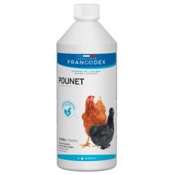 francodex Produkt gegen rote Läuse, Hühner. 1L Flasche für Geflügel FR-174211 Niedriger Innenhof