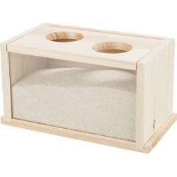 Trixie Holzsandbad für Nagetiere TR-63004 Kleintiere und Nagetiere
