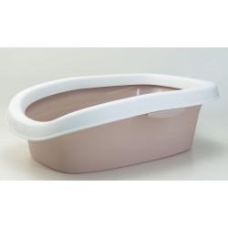 Stefanplast Sprint Katzenklo 10. Größe 31 x 43 x 14 h. rosa Farbe. ZO-590105gro Abfallbehälter