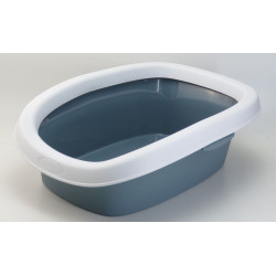 stefanplast ZO-590105bac Sprint litter box 10. size 31 x 43 x 14 h. color grey blue. Litter boxes