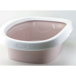 stefanplast Sprint Katzenklo 10. Größe 31 x 43 x 14 h. rosa Farbe. ZO-590106gro Abfallbehälter