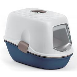 ZO-590016BLM zolux Maison de toilette furba bleu et blanche. 39.4 × 58.5 × 42.7 cm. pour chat Aseo de la casa