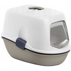 Maison de toilette furba taupe et blanche. 39 × 59 × 42 cm. pour chat ZO-590016TAU Stefanplast