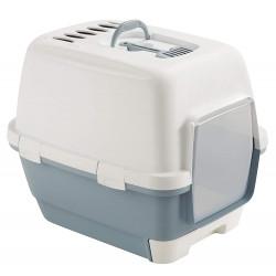 ZO-590004BAC stefanplast Maison de toilette Clever & Smart. taille 58 x 45 x 48 cm h. bleu acier .pour chat Aseo de la casa