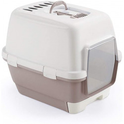 ZO-590004GRO stefanplast Maison de toilette Clever & Smart. taille 58 x 45 x 48 cm h. gris rose .pour chat Aseo de la casa