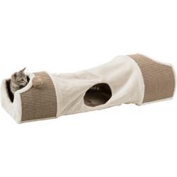 TR-43004 Trixie Túnel de rascado para gatos, tamaño: 110 × 30 × 38 cm Griffoirs