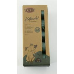 TR-23476 Trixie Bolsa de caca de perro, compostable para perros, 10 rollos de 10 bolsas. Recogida de residuos