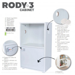 zolux ZO-275000 Cage cabinet Rody3. size 28.4 x 45 x 77 cm. color white. for rodents Cage