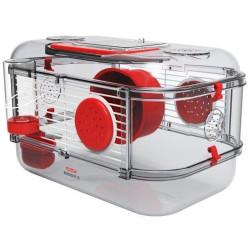 zolux Cage Mini rody3. couleur grenadine. taille 33 x 21 x 18 cm H. pour rongeur Cage