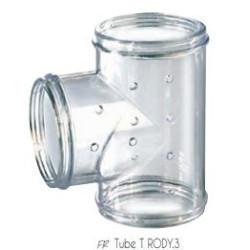 ZO-206028 zolux Tubo en T Rody gris transparente. tamaño ø 5 cm x 9.5 cm x 8 cm. para roedores. Accessoire de cage