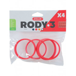 zolux ZO-206031 4 rings connector for Rody tube . color red. size ø 6 cm . for rodent. Cage