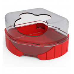 zolux 1 Toilettenhaus für kleine Nagetiere. Rody3 . Farbe rot. Größe 14,3 cm x 10,5 cm x 7 cm . für Nagetiere. ZO-206039 Abfa...